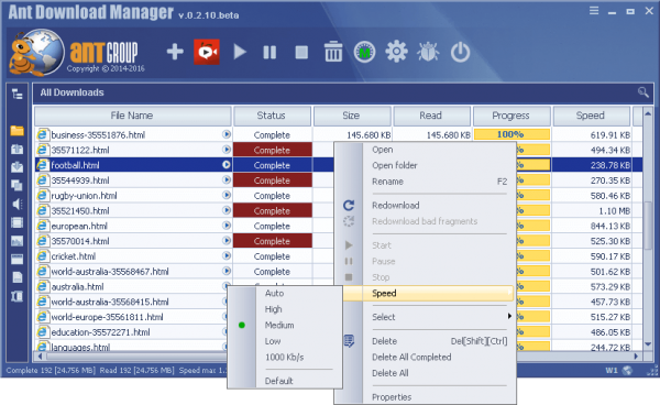 Ant Download Manager 1.19.6 Build 74680 + Keygen