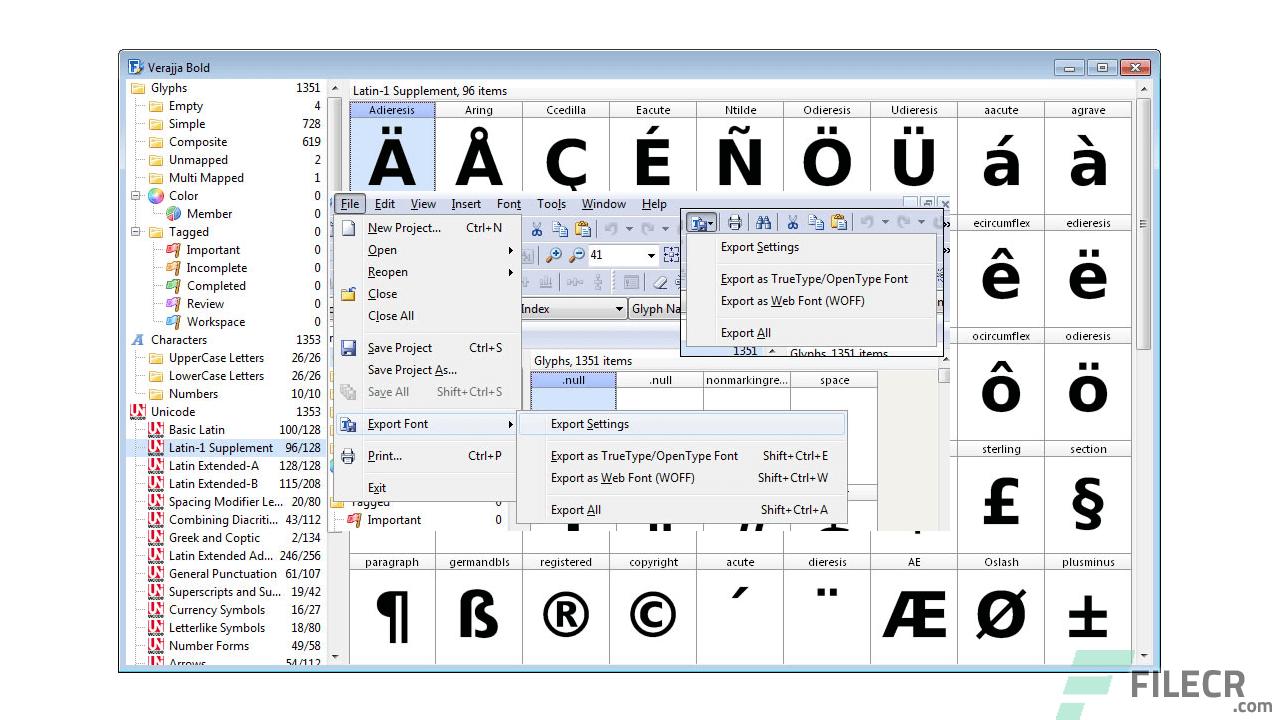 FontCreator Pro 12.0.0.2555 + Serial Key