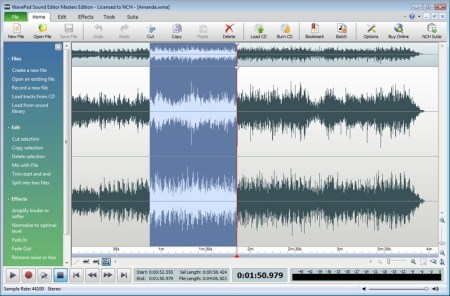 WavePad Sound Editor 11.17 Crack