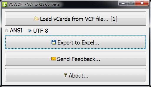 VovSoft VCF to CSV Converter 2.8.0
